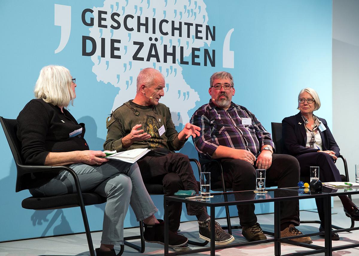 von links nach rechts Brigitte Tilmann, Rene Münch, Gerd Keil und Barbara Kavemann