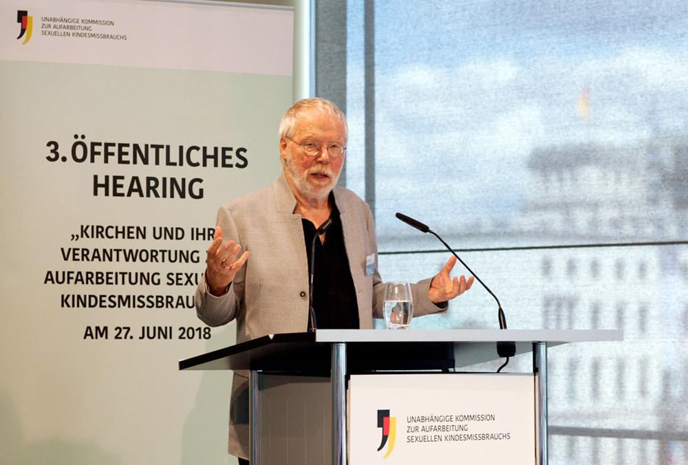 Kommissionsmitglied Heiner Keupp