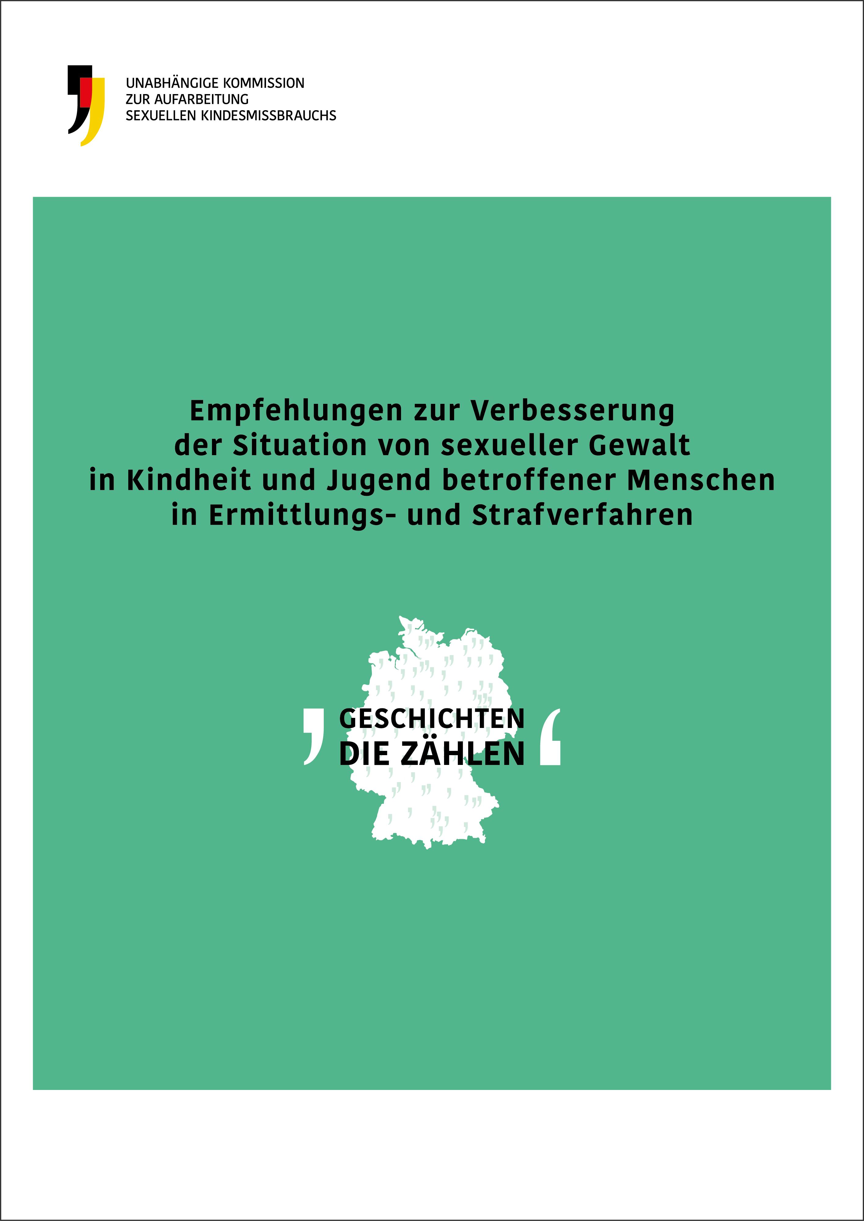 Cover der Empfehlungen der Kommission zu Strafverfahren.