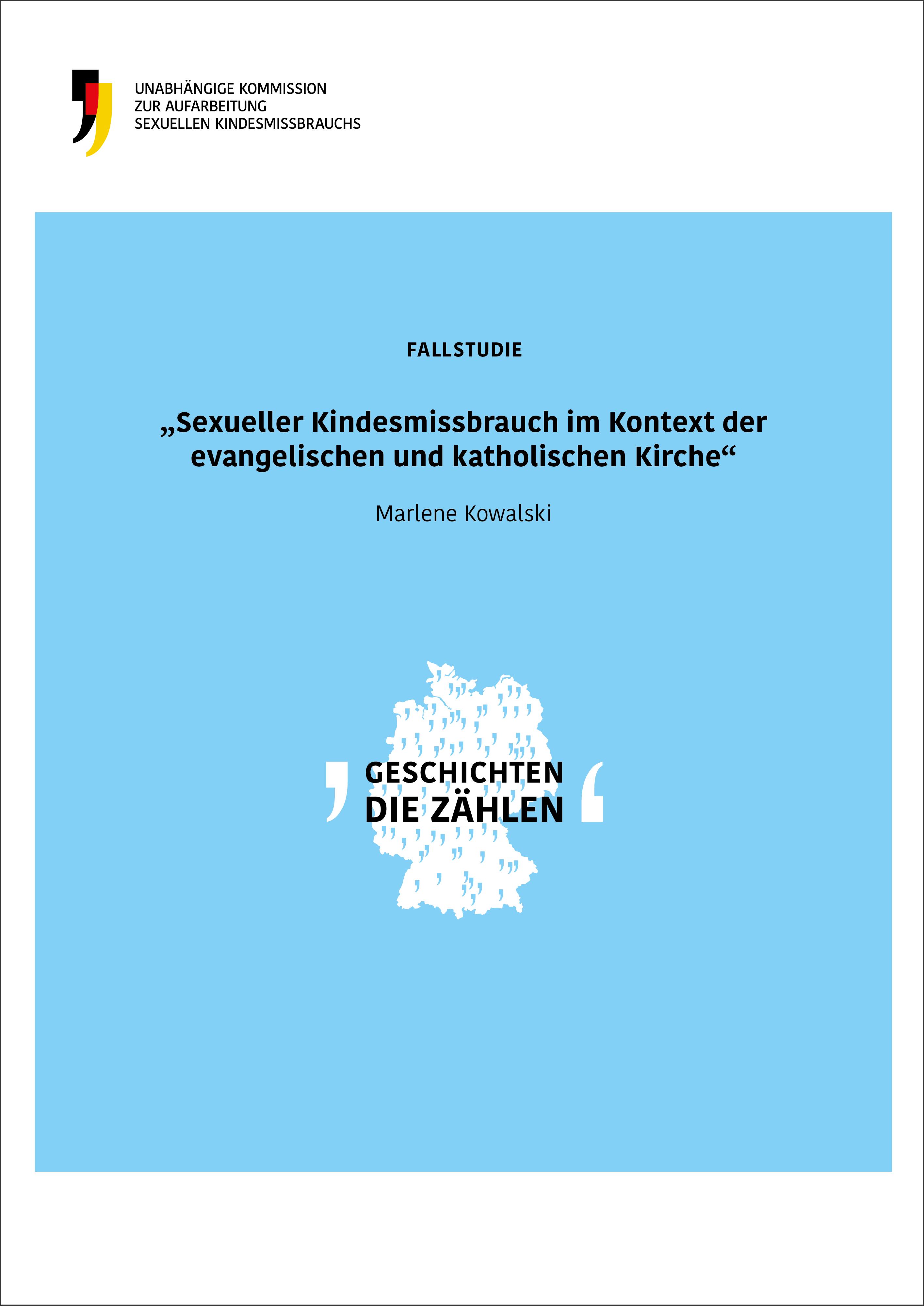 Cover der Fallstudie Sexueller Kindesmissbrauch im Kontext der evangelischen und katholischen Kirche