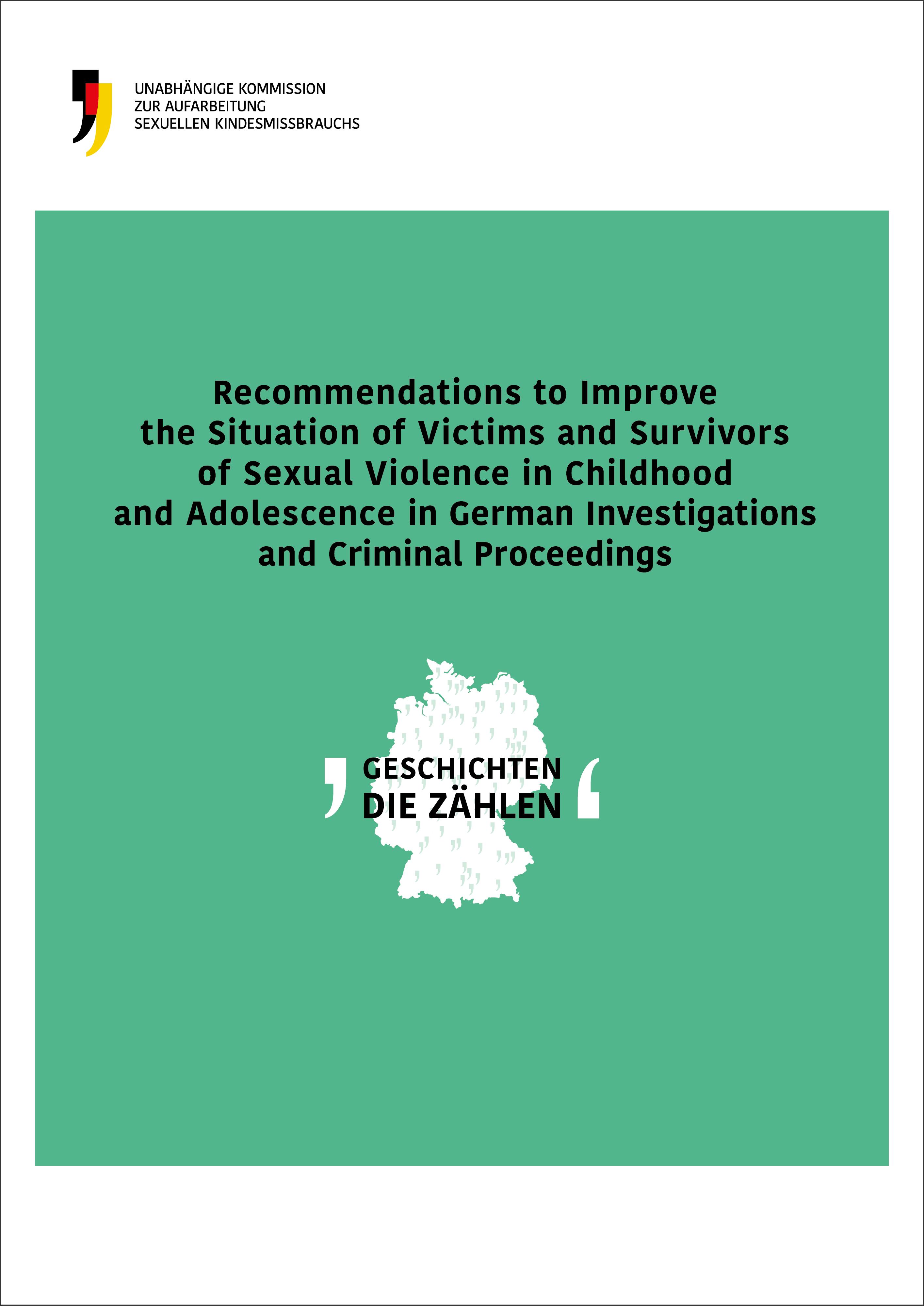 Cover der englischen Ausgabe der Empfehlungen für Strafverfahren
