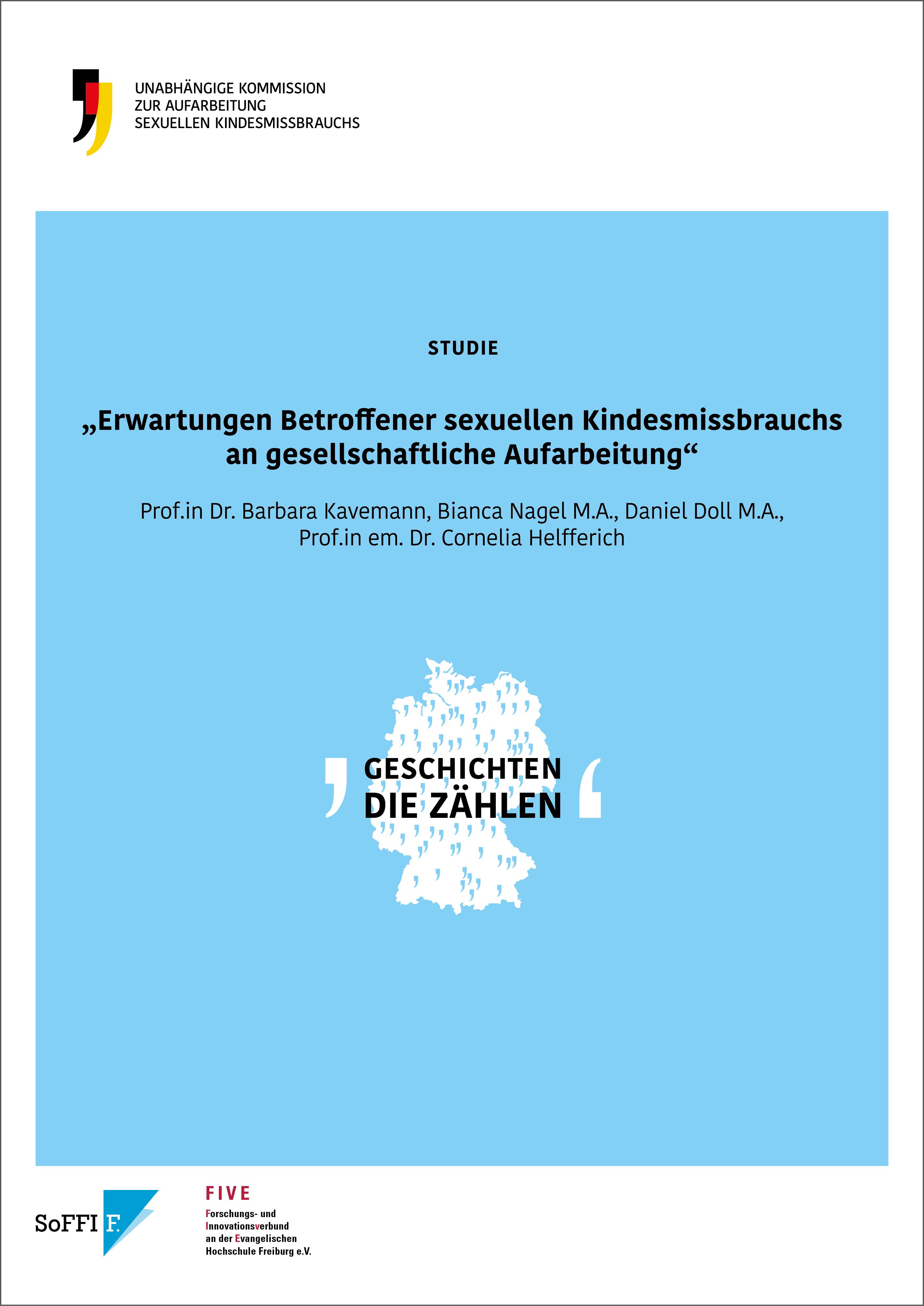 Cover der Studie zu Erwartungen Betroffener sexuellen Kindesmissbrauchs an gesellschaftliche Aufarbeitung
