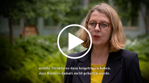 Video mit Sabine Andresen. Sie erklärt den Begriff Aufarbeitung.