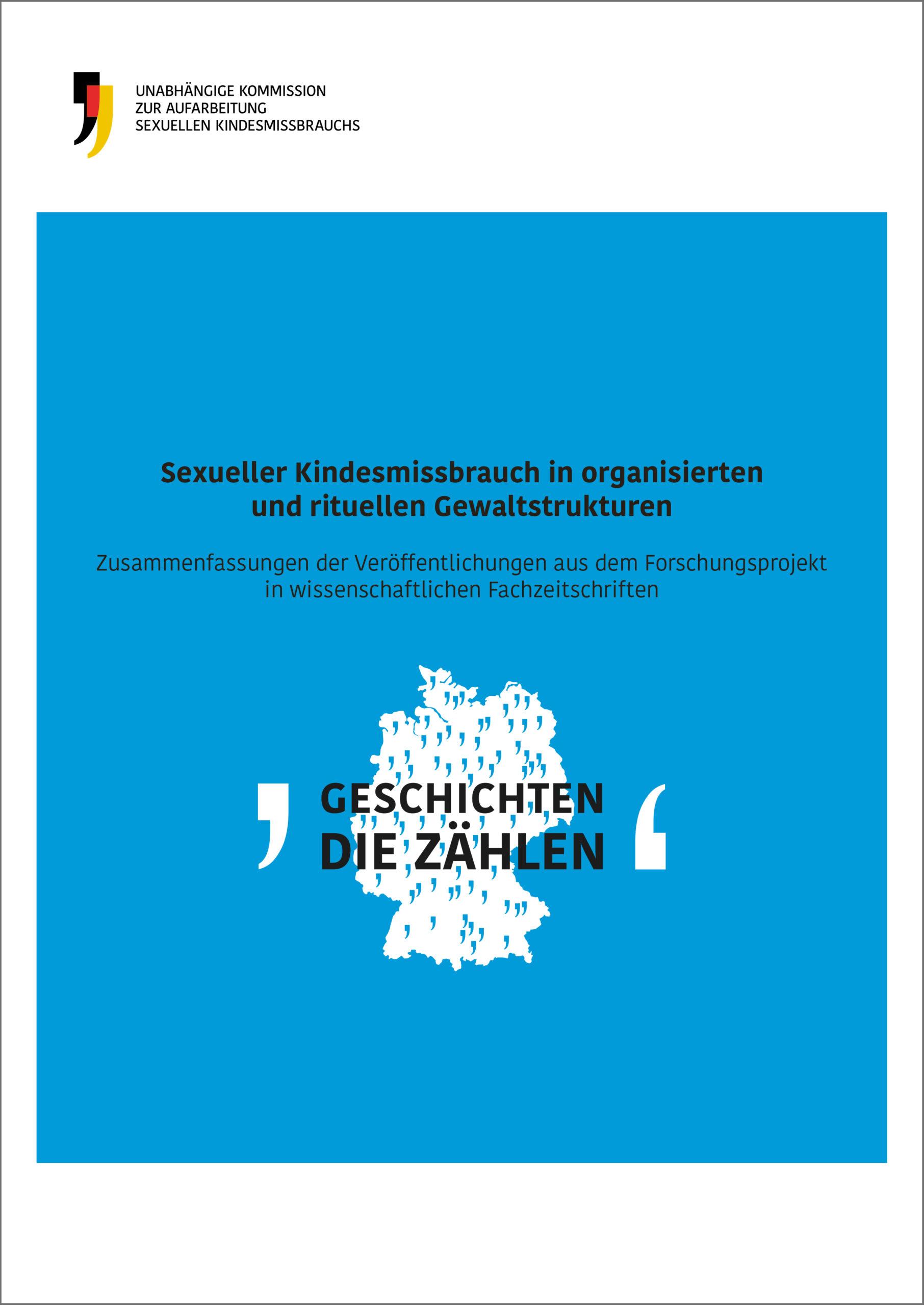 """Cover der Publikation """"Sexueller Kindesmissbrauch in organisierten und rituellen Gewaltstrukturen"""""""